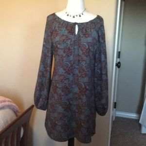 Altar'd State fall paisley mini-dress, size Small